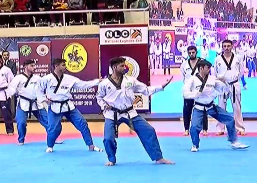اسلام آباد میں منعقد ہونے والے تائیکوانڈو مقابلوں کا ایک منظر