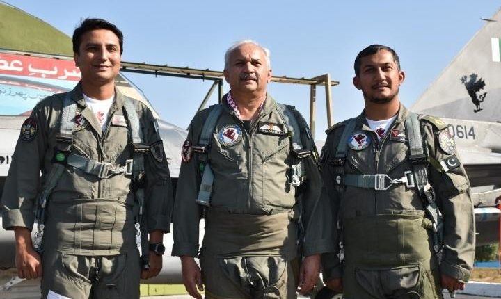 WC-Noman Akram with Airchief Marshal Anwar Mujahid